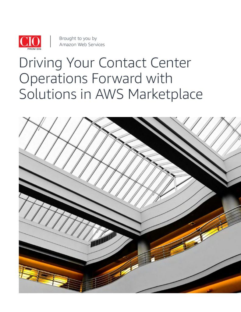 Driving Your Contact Center Operations Forward with Solutions in AWS Marketplace
