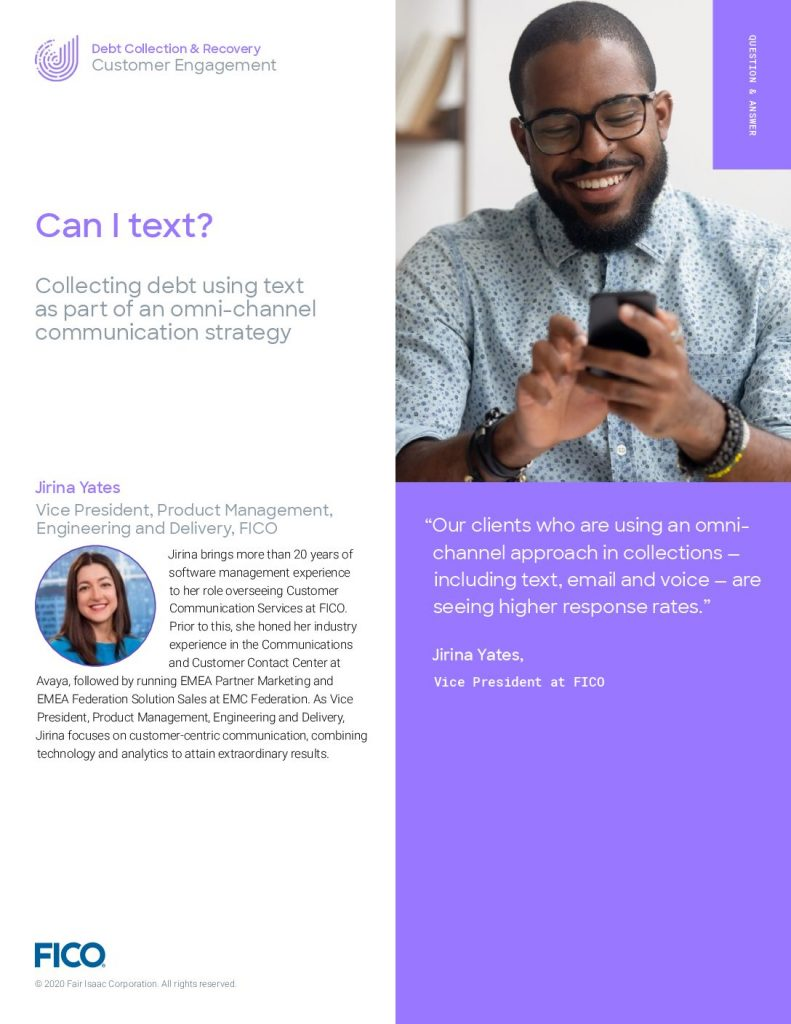Can I text? Collecting debt using text as part of an omni-channel communication strategy