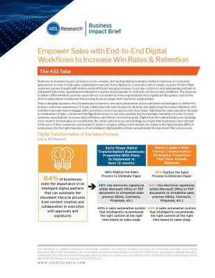 Empower Sales with End-to-End Digital Workflows to Increase Win Rates  and  Retention