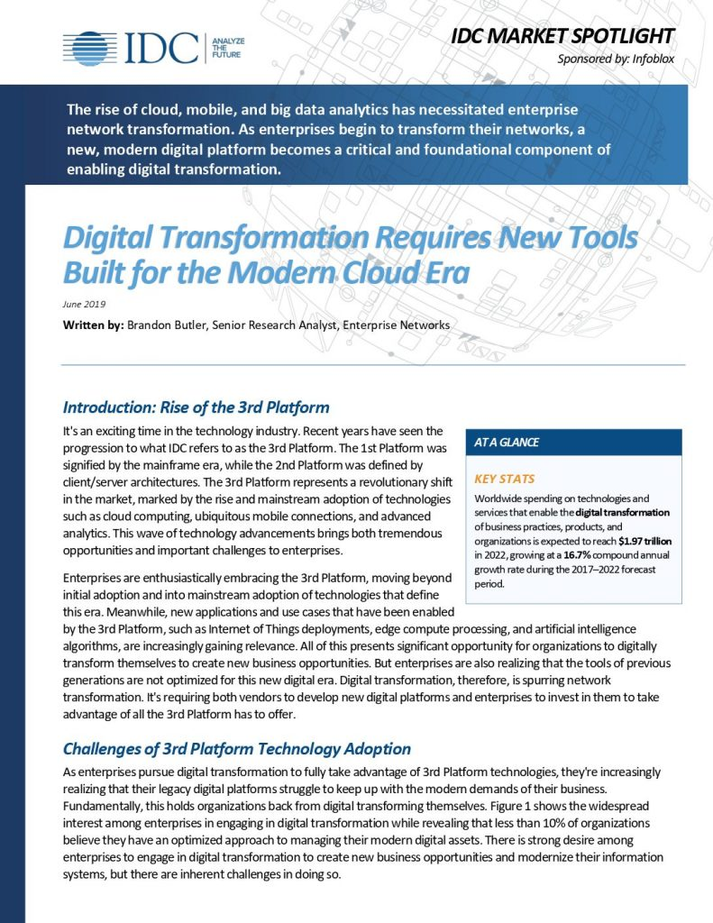 Digital Transformation RequiresNew Tools Built for the Modern Cloud Era