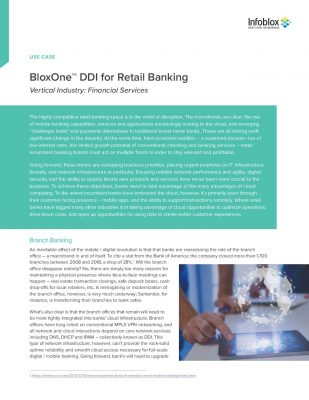 BloxOne™ DDI for Retail Banking