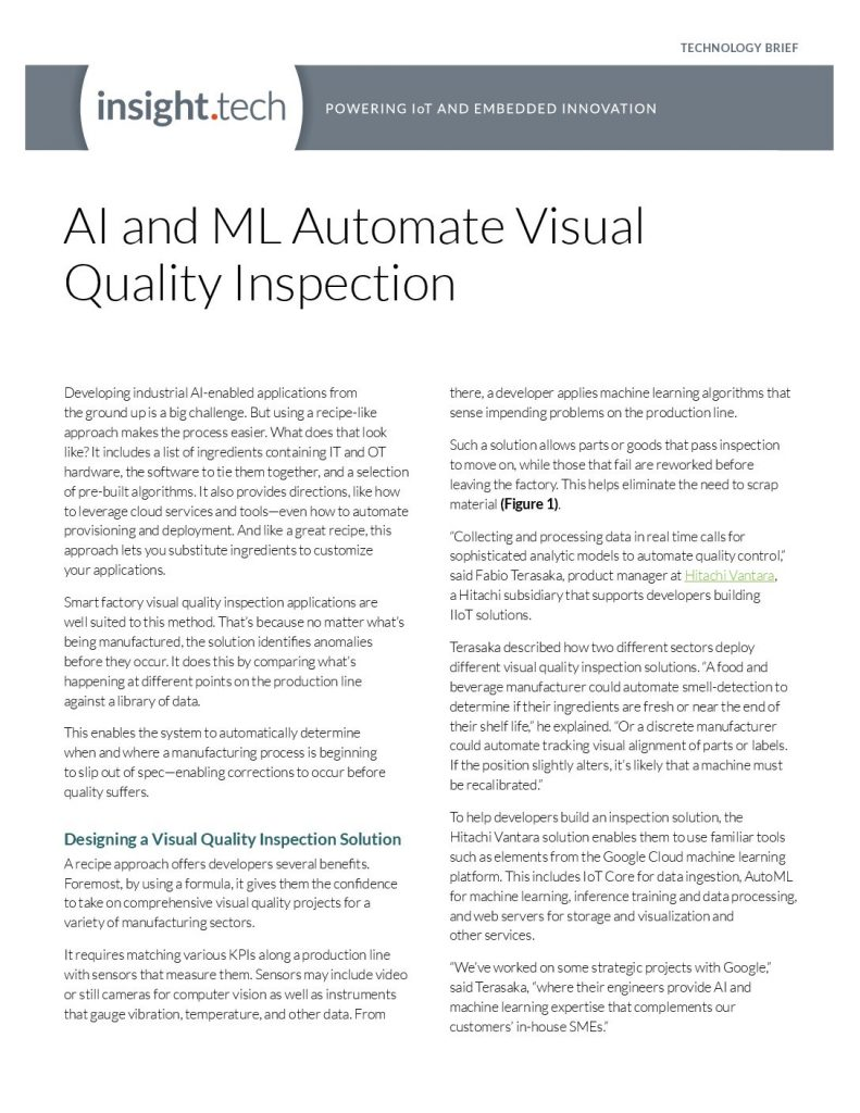 AI and ML Automate Visual Quality Inspection