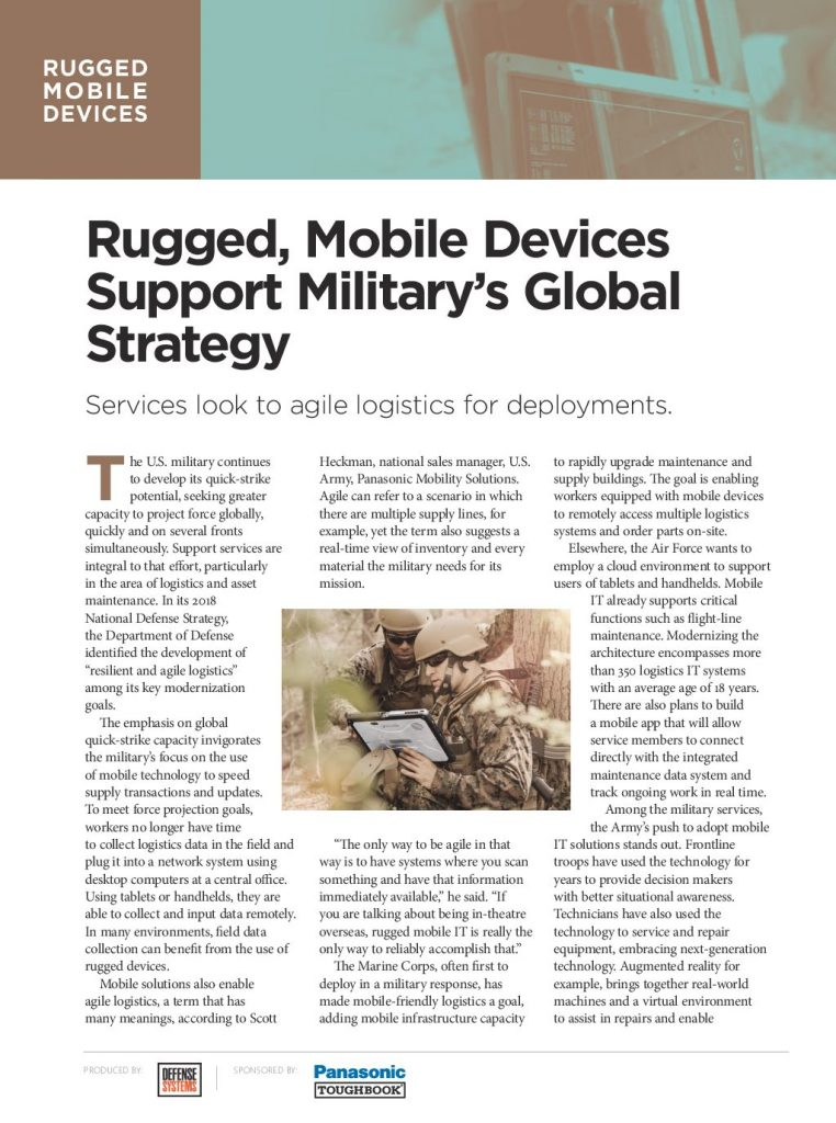 Rugged Mobile Devices Support Military's Global Strategy