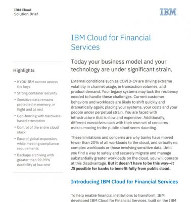 FS Public Cloud Solution Brief