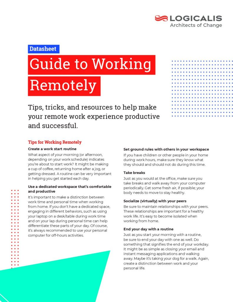 Guide to Working Remotely