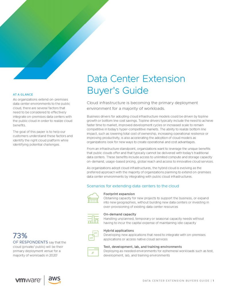 Data Center Extension Buyer's Guide