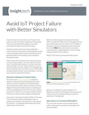 Avoid IoT Project Failure with Better Simulators