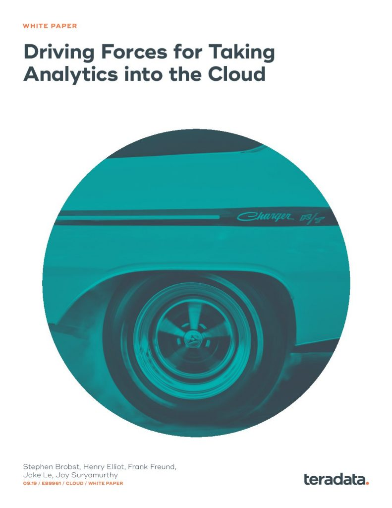 Driving Forces For Taking Analytics into the Cloud