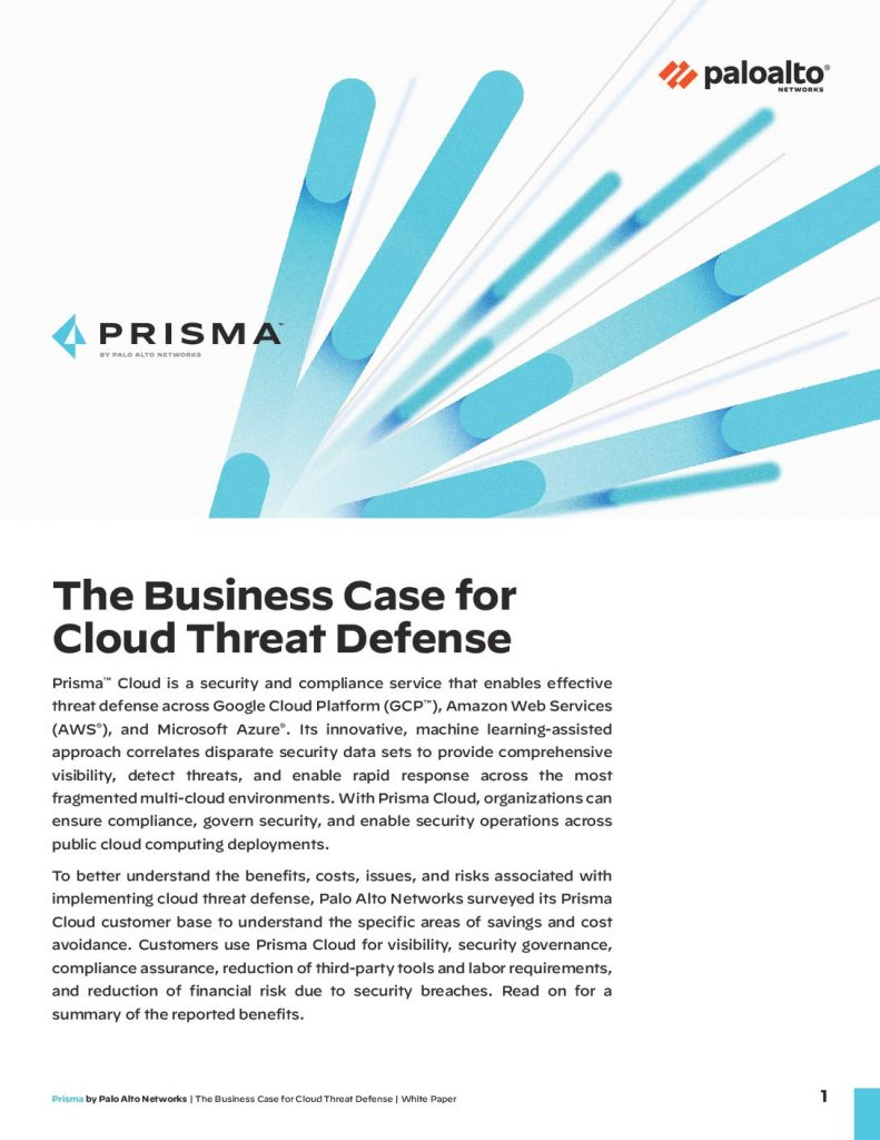 The Business Case for Cloud Threat Defense