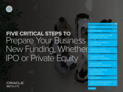Five Critical Steps to Prepare Your Business for new Funding, Whether IPO or Private Equity