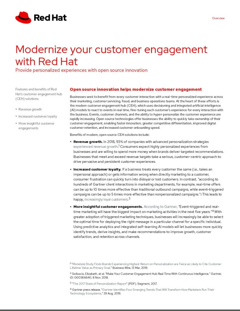 Modernize for CX with Red Hat