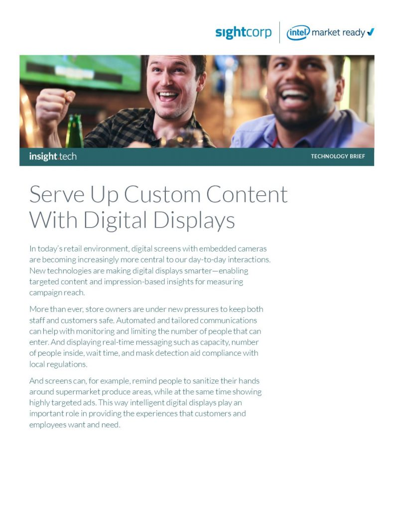 Serve Up Custom Content With Digital Displays