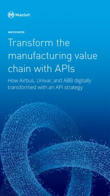 Transform the manufacturing value chain with APIs