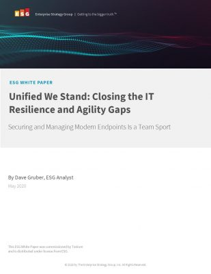 ESG Analyst Paper: Closing the IT Resilience and Agility Gaps