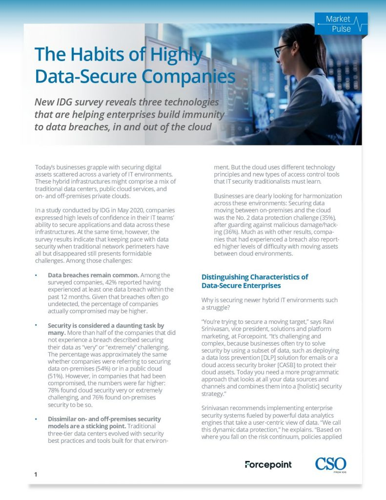 The Habits of Highly Data-Secure Companies