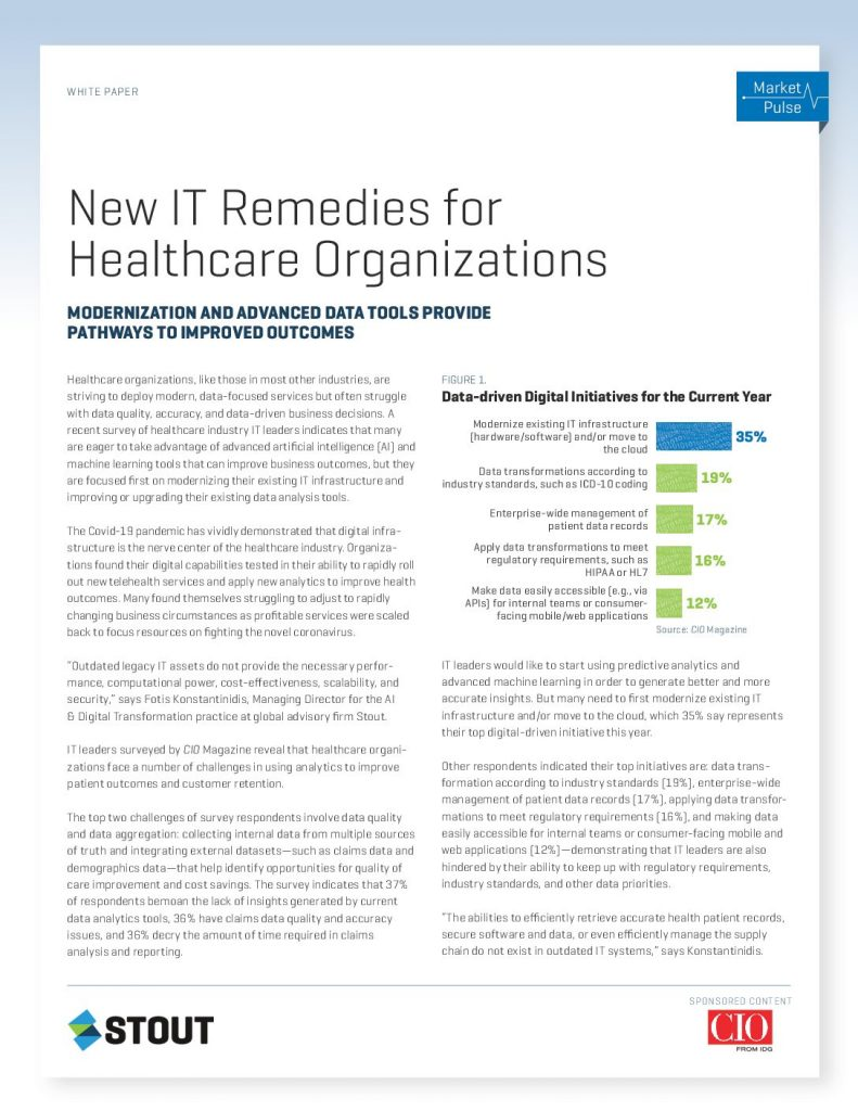 New IT Remedies for Healthcare Organizations