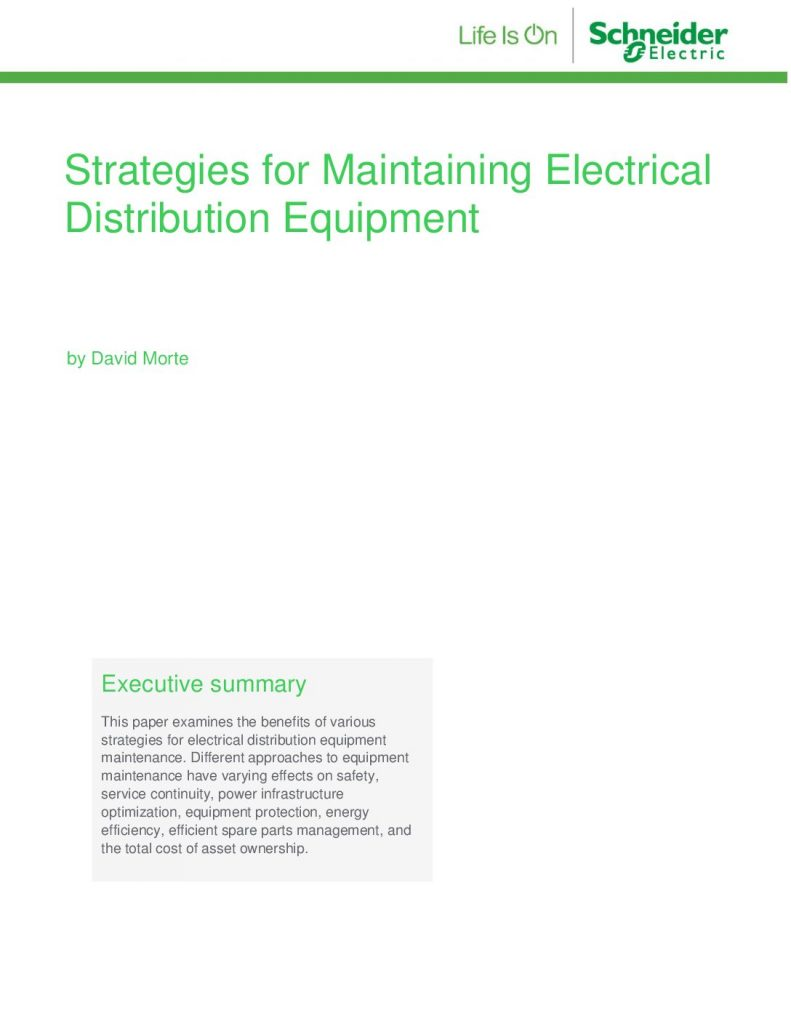 Strategies for Maintaining Electrical Distribution Equipment