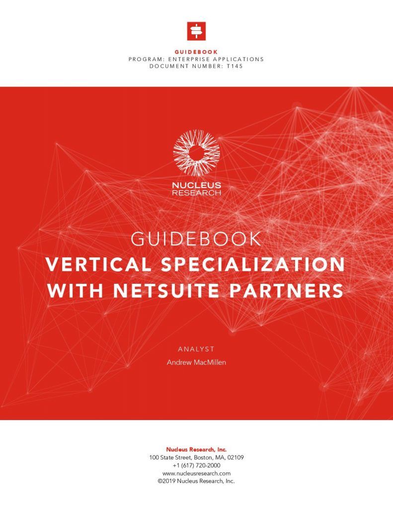 VERTICAL SPECIALIZATION WITH NETSUITE PARTNERS