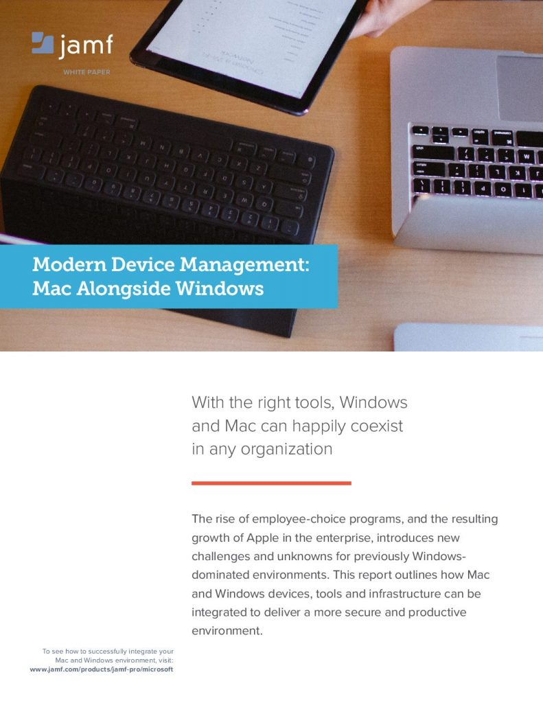 Modern Device Management: Mac Alongside Windows