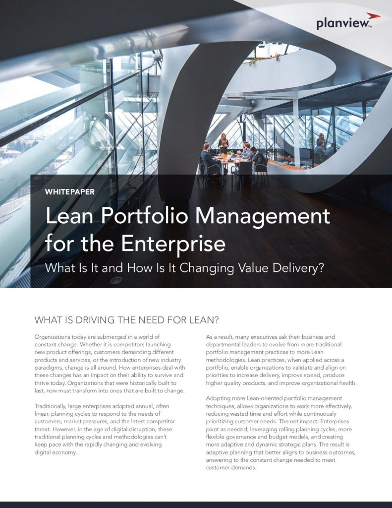 Lean Portfolio Management for the Enterprise