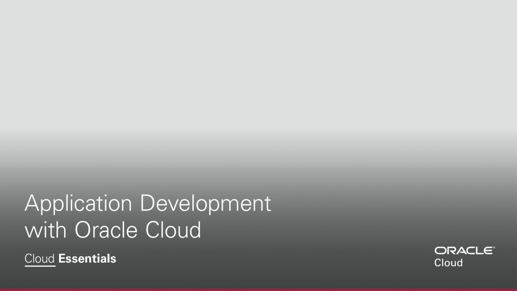 Application Development with Oracle Cloud Ebook