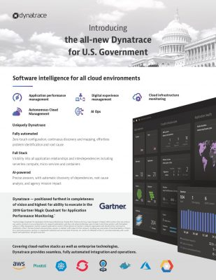 Dynatrace for U.S. Government Whitepaper