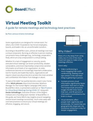 Virtual Meeting Toolkit
