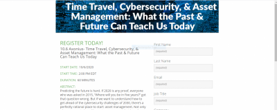 Time Travel, Cybersecurity,  and  Asset Management: What the Past  and  Future Can Teach Us Today