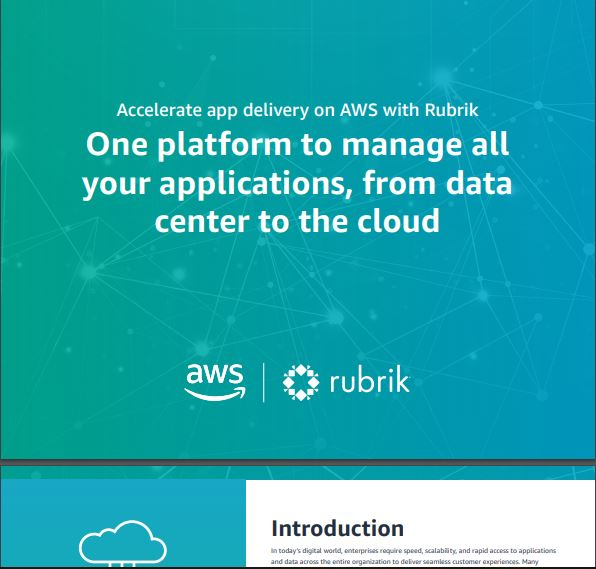 Accelerate App Delivery on AWS with Rubrik