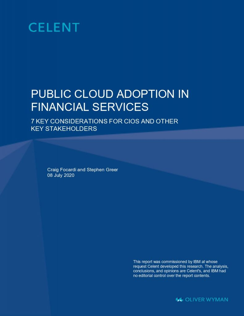 Public Cloud Adoption in Financial Services- 7 key considerations for CIOs