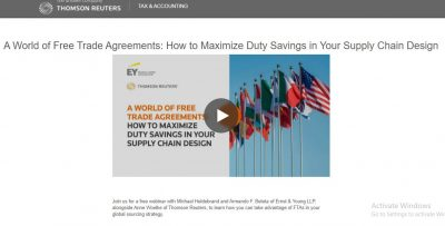 A World of Free Trade Agreements: How to Maximize Duty Savings in Your Supply Chain Design