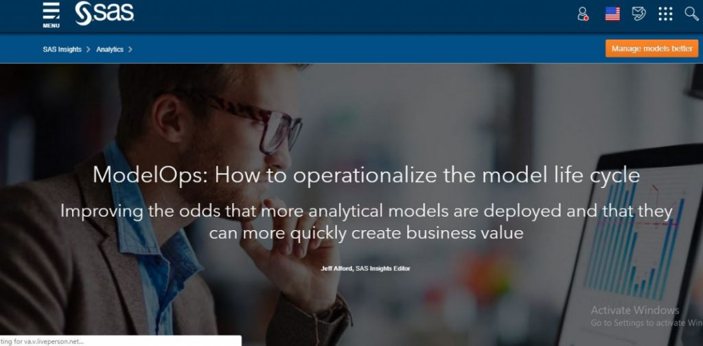 ModelOps: How to operationalize the model life cycle