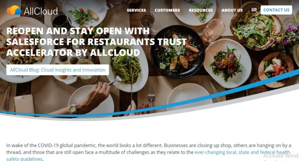 Reopen and Stay Open with Salesforce for Restaurants Trust Accelerator by AllCloud