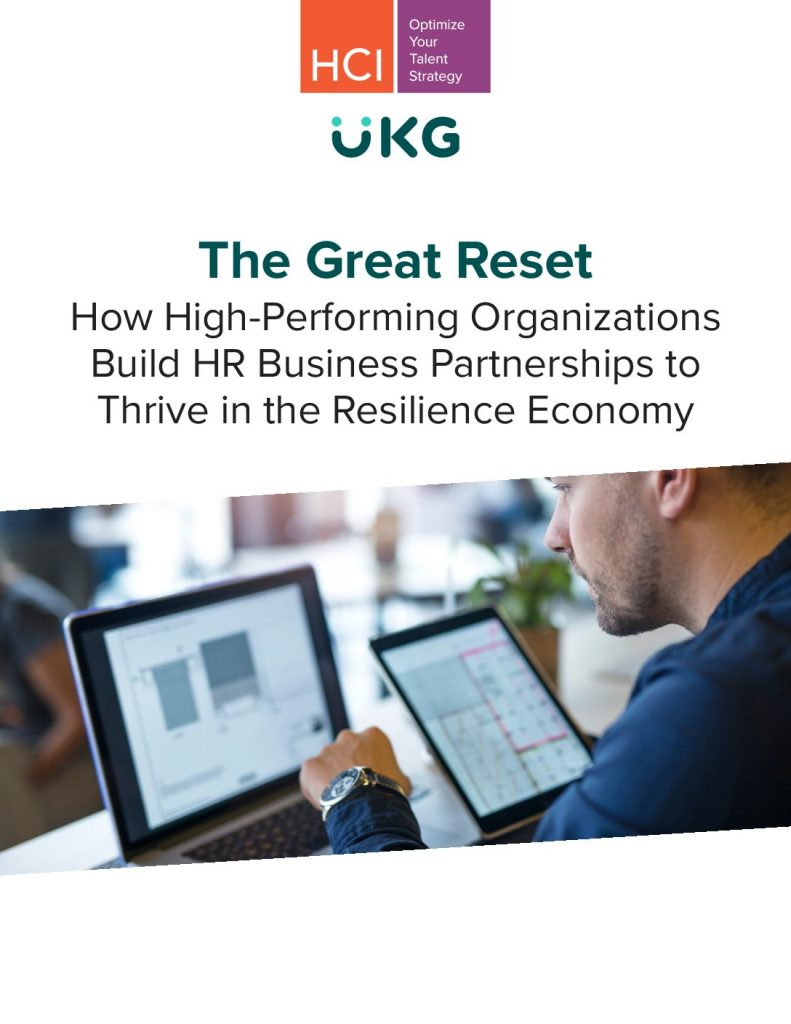 The Great Reset: How High-Performing Organizations Build HR Business Partnerships​