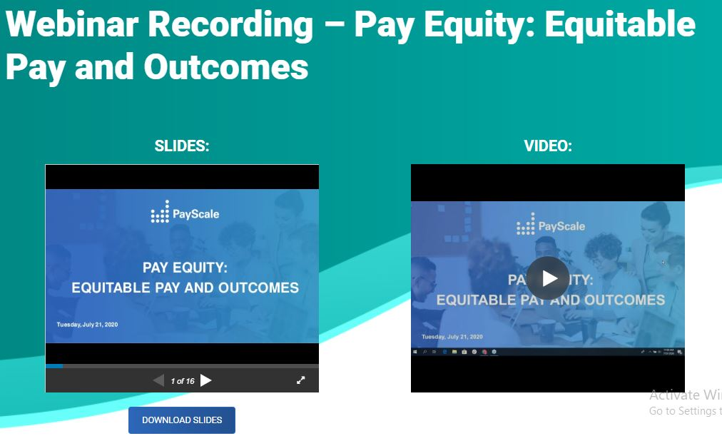 Pay Equity: Equitable Pay and Outcomes
