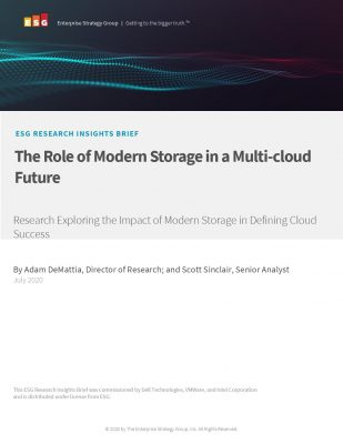 The role of modern storage in a multi cloud future
