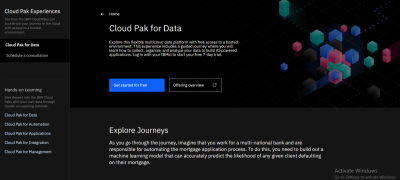 IBM Cloud Pak for Data Experiences Guided Demo