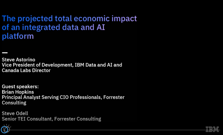 Forrester TEI Webinar – The projected total impact of an integrated data and AI platform
