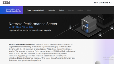 Infographic: Netezza Performance Server on IBM Cloud Pak for Data System