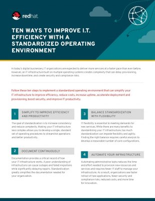 10 Ways to Improve IT Efficiency with a Standardized Operating Environment (checklist)