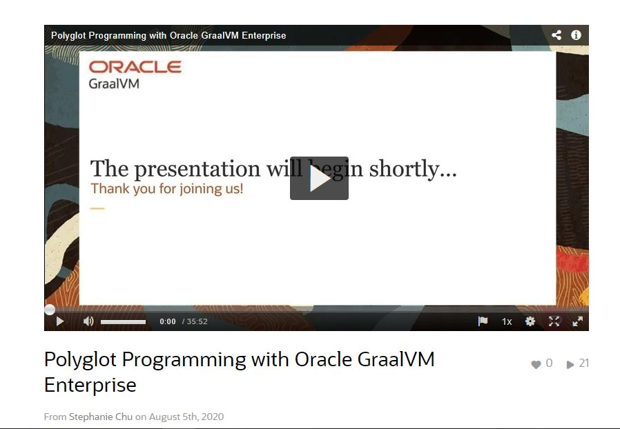 Polyglot Programming with Oracle GraalVM Enterprise and Coherence