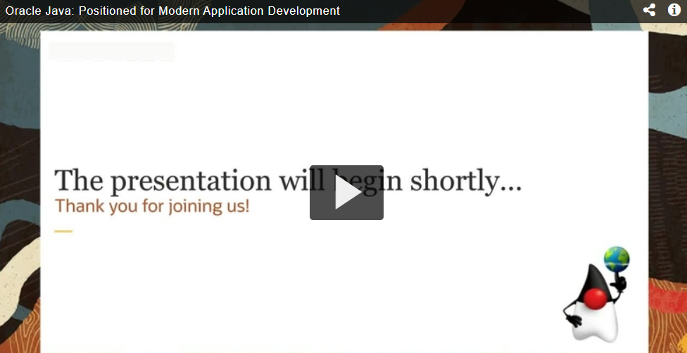 Oracle Java: Positioned for Modern Application Development