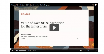 The Value of Java SE Subscription for the Enterprise