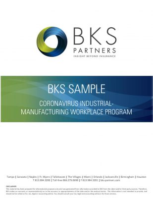 BKS SAMPLE: CORONAVIRUS INDUSTRIAL-MANUFACTURING WORKPLACE PROGRAM