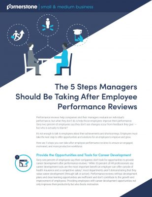 5 Steps Employees Should Be Taking After Employee Performance Reviews