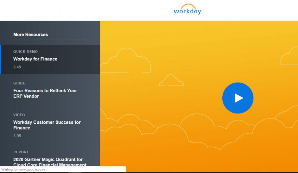 Workday for Finance Quick Demo