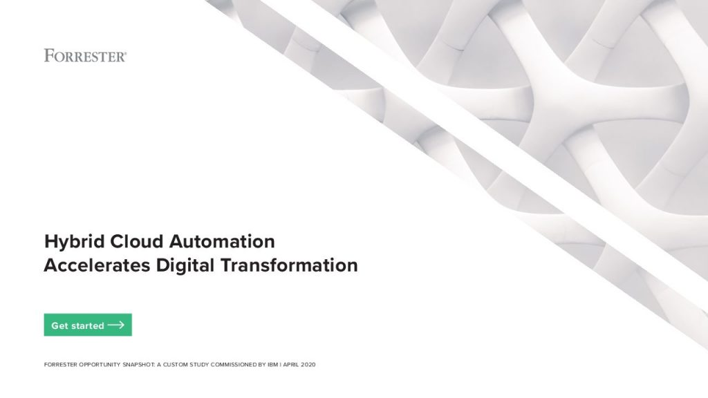 Hybrid Cloud Automation Accelerates Digital Transformation