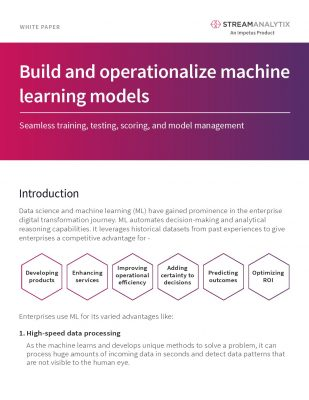 Build and operationalize machine learning models