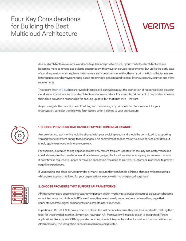 Four Considerations for Building the Best Multicloud Architecture