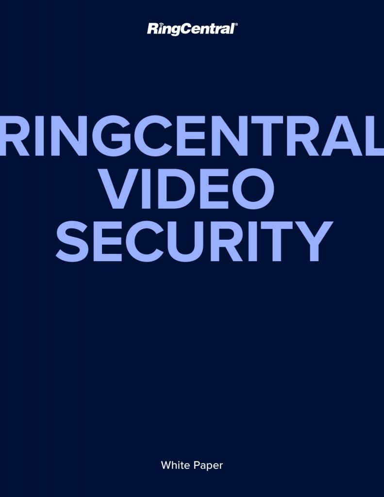 RINGCENTRAL VIDEO SECURITY